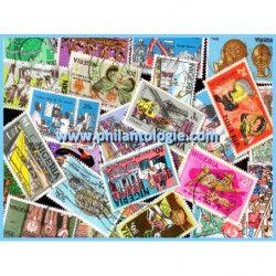 Nigeria timbres de collection tous différents.