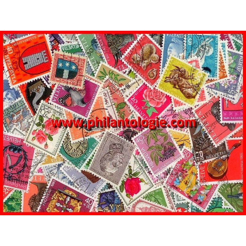 Suisse timbres surtaxés tous différents.