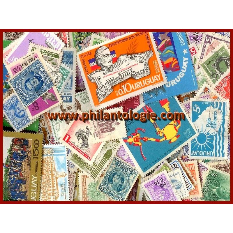Uruguay timbres de collection tous différents.