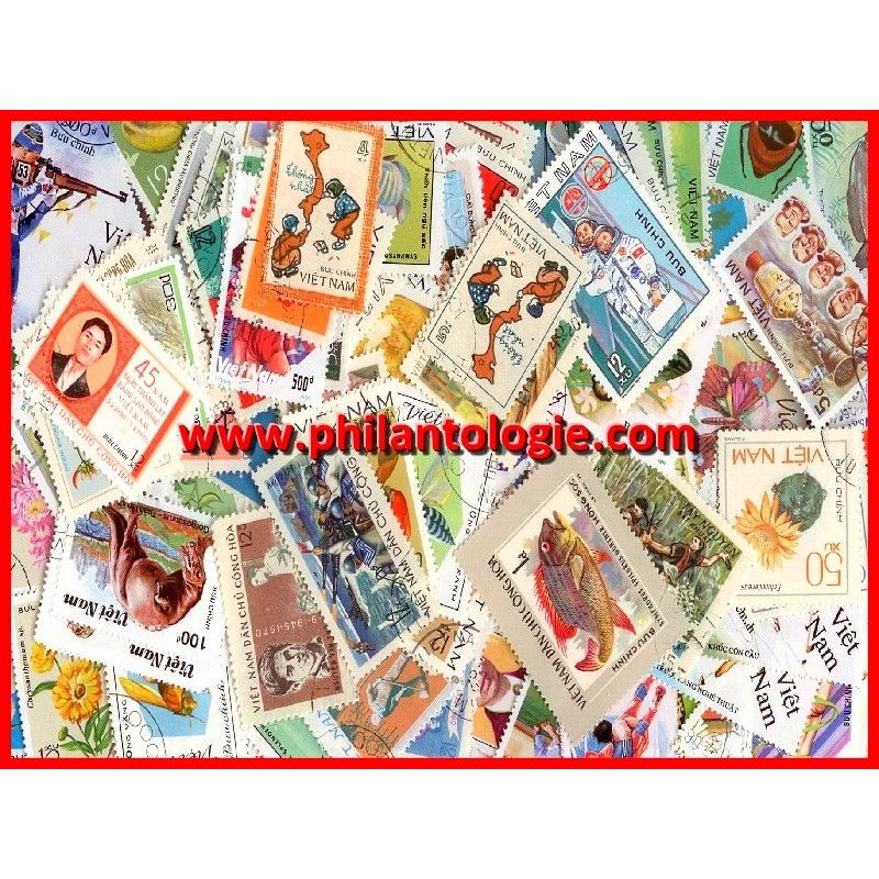 Vietnam timbres de collection tous différents.