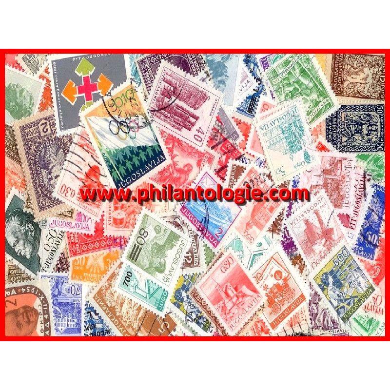Yougoslavie timbres de collection tous différents.