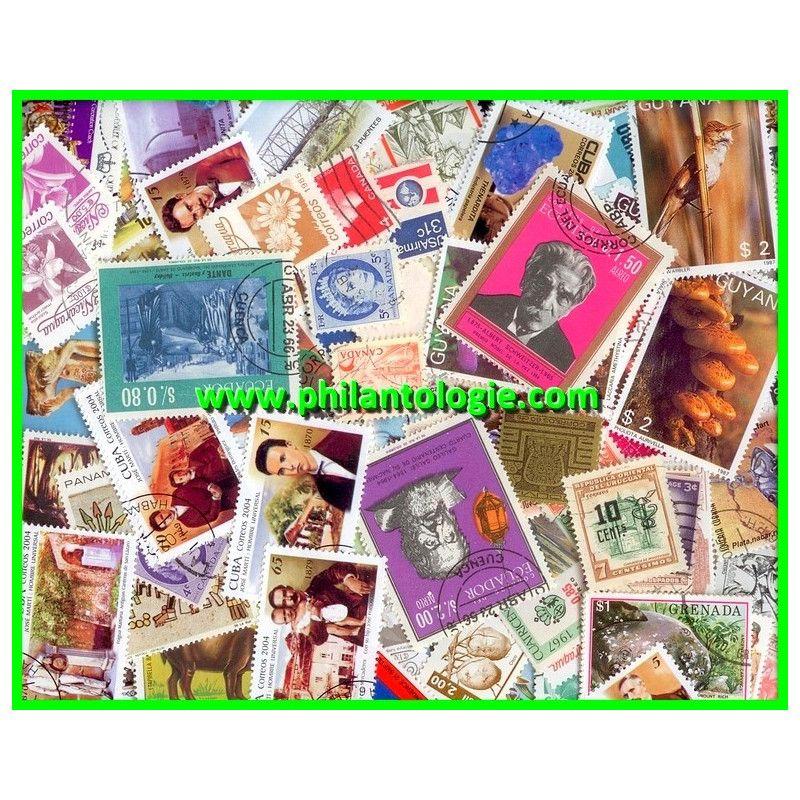 Amérique timbres de collection tous différents.
