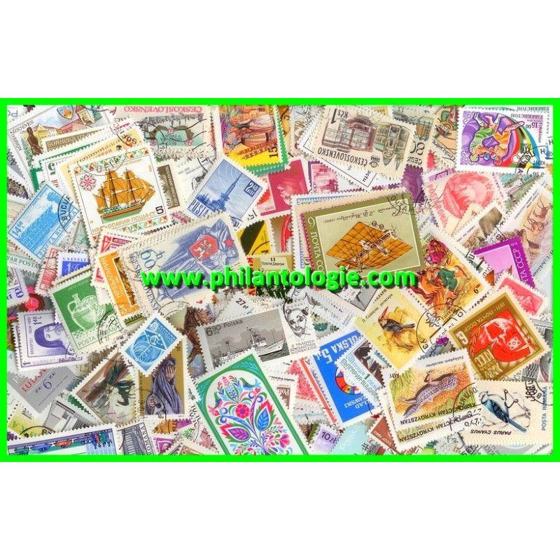Europe de l'Est timbres de collection tous différents.