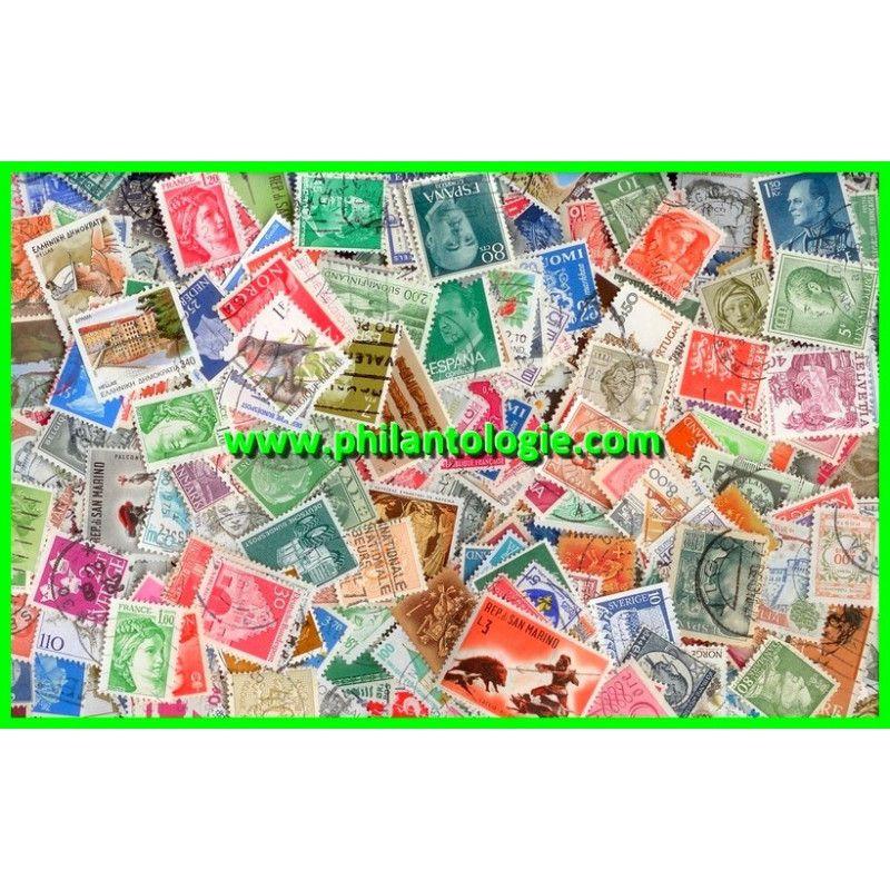 Europe de l'Ouest timbres de collection tous différents.