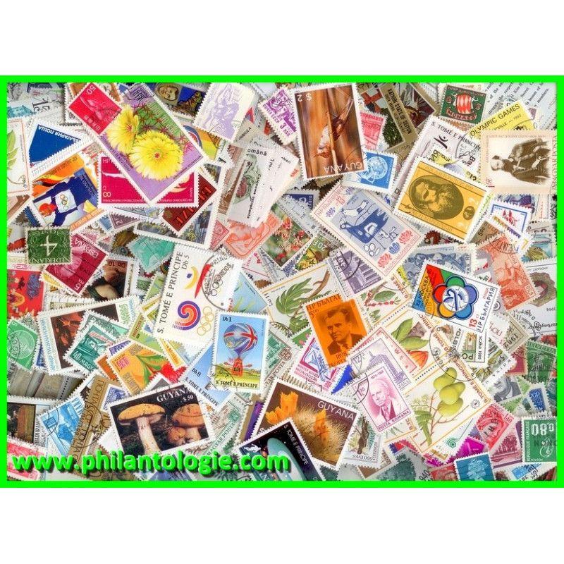 Tous pays timbres de collection tous différents.