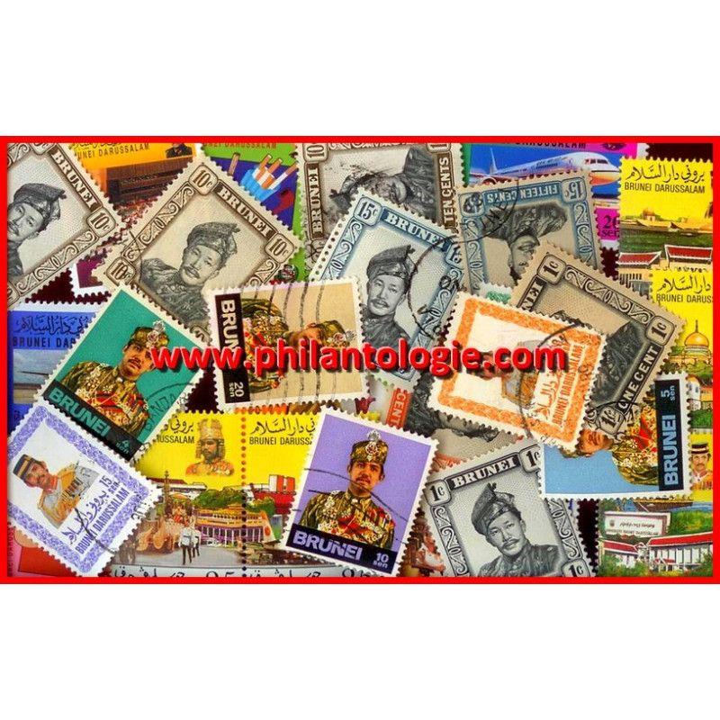 Brunei timbres de collection tous différents.