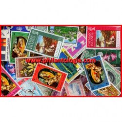 Îles Caïmanes timbres de collection tous différents.