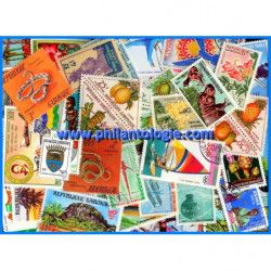 Gabon timbres de collection tous différents.