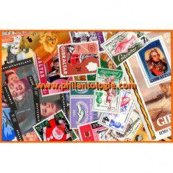 Gibraltar timbres de collection tous différents.