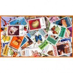 Grenades timbres de collection tous différents.