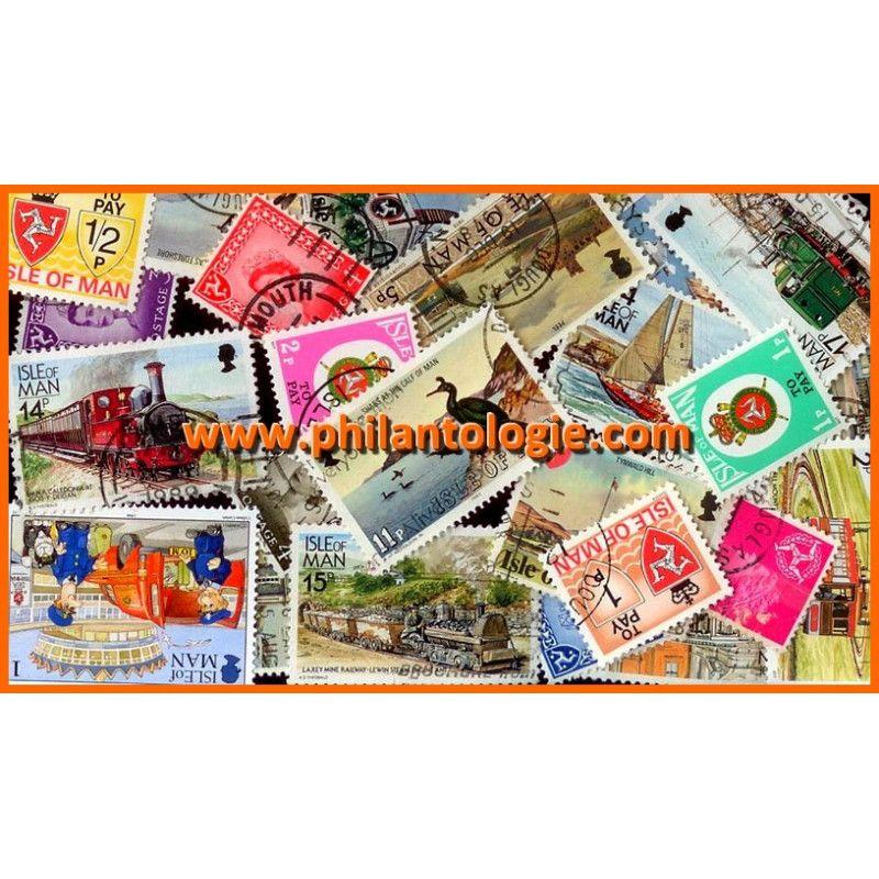 Île de Man timbres de collection tous différents.