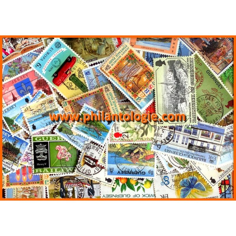 Îles Anglo-normandes timbres de collection.