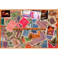 Inde timbres de collection grands formats.