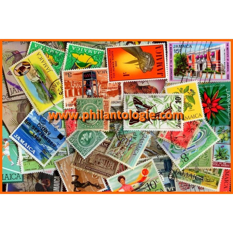 Jamaïque timbres de collection tous différents.