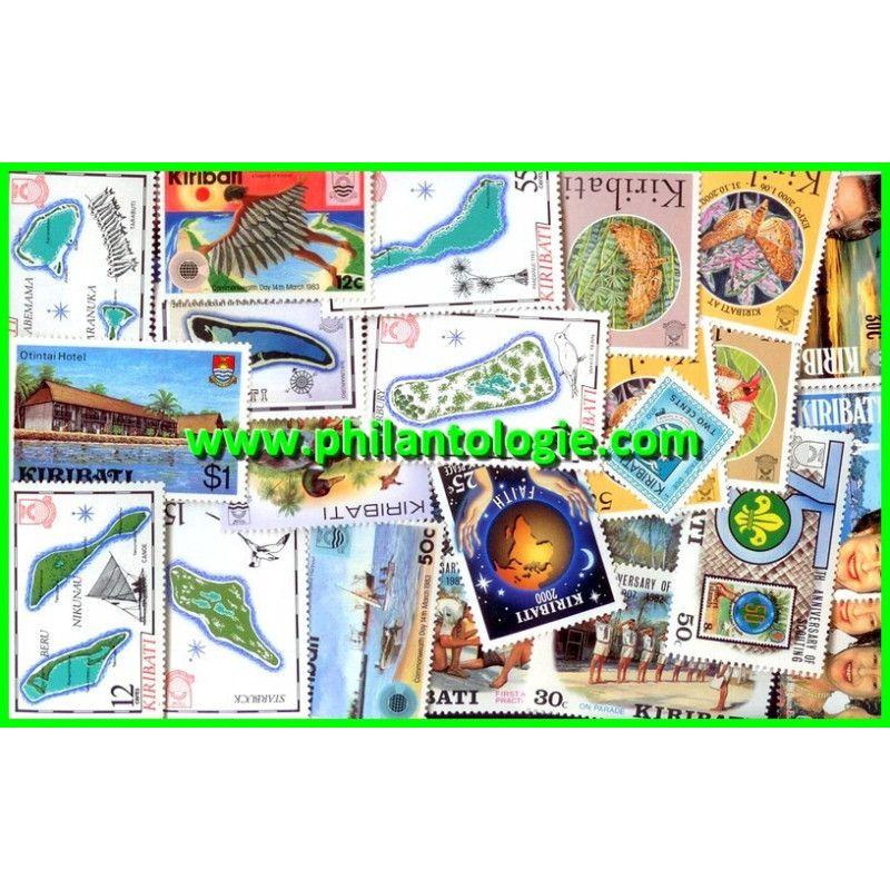 Kiribati timbres de collection tous différents.