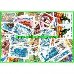 Kirghizstan timbres de collection tous différents.