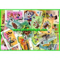 Lesotho timbres de collection tous différents.
