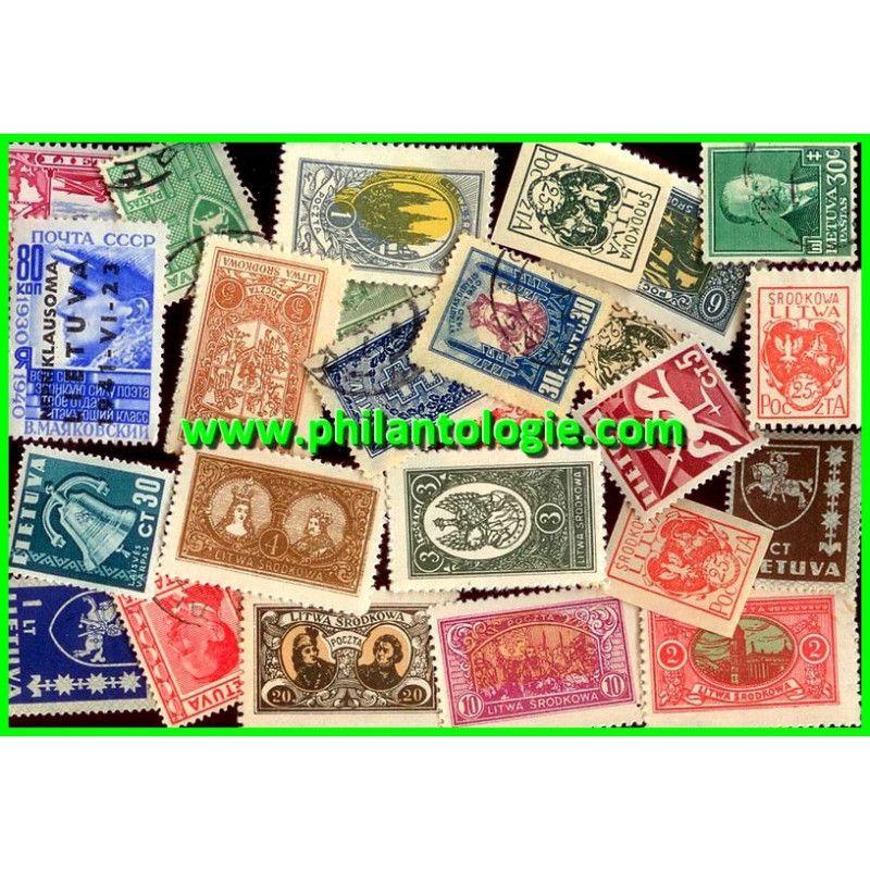 Lituanie timbres de collection émis avant 1940.