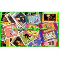 Mahra timbres de collection tous différents.