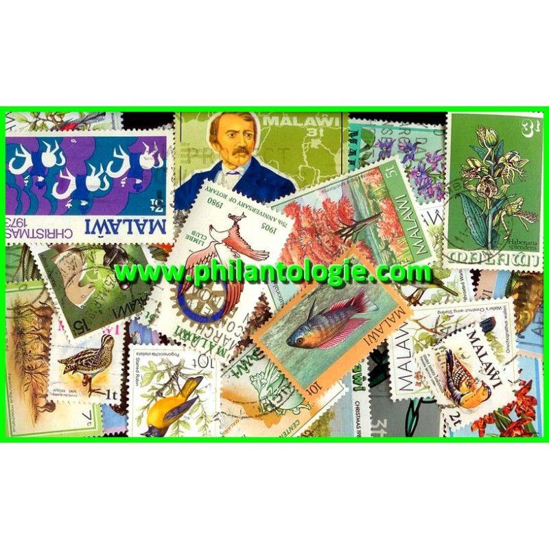Malawi timbres de collection tous différents.