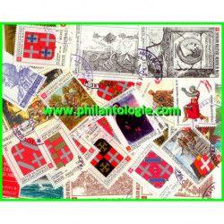 Ordre de Malte timbres de collection tous différents.