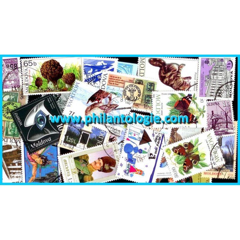 Moldavie timbres de collection tous différents.