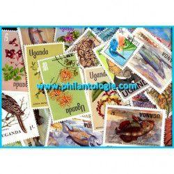 Ouganda timbres de collection tous différents.