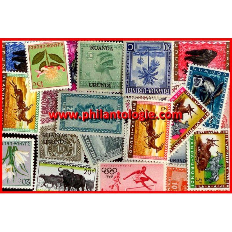 Ruanda Urundi timbres de collection tous différents.