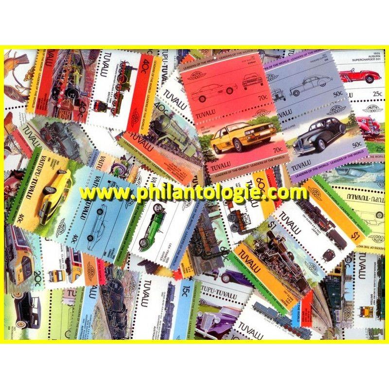 Tuvalu timbres de collection tous différents.