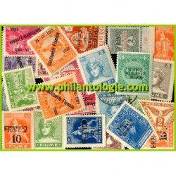 Fiume timbres de collection tous différents.