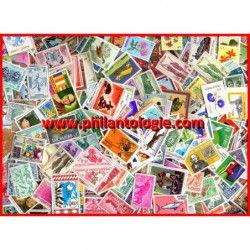 1000 timbres tous pays neufs grands formats tous différents.