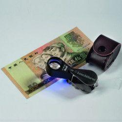 Loupe de précision avec lampe UV, grossissement 10 fois.
