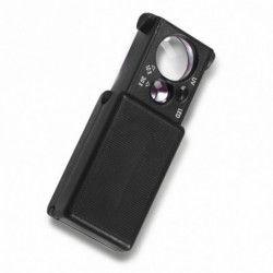Loupe de poche lumineuse LED avec lampe UV.