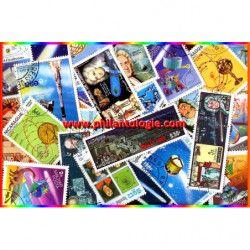 La comète de Halley 25 timbres thématiques tous différents.