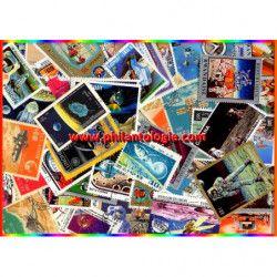 La Lune timbres thématiques tous différents.