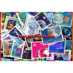 La Terre timbres thématiques tous différents.