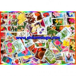 Fleurs timbres thématiques...