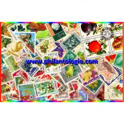 Fruits timbres thématiques tous différents.