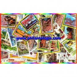 Arbres timbres thématiques tous différents.