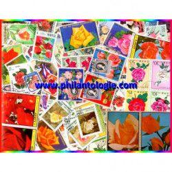 Roses timbres thématiques tous différents.