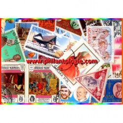 Papes timbres thématiques tous différents.