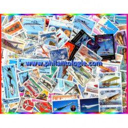 Avions timbres thématiques tous différents.