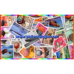 Ballons et Dirigeables timbres thématiques tous différents.