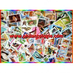 Animaux timbres thématiques tous différents.