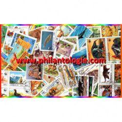 Animaux WWF timbres thématiques tous différents.