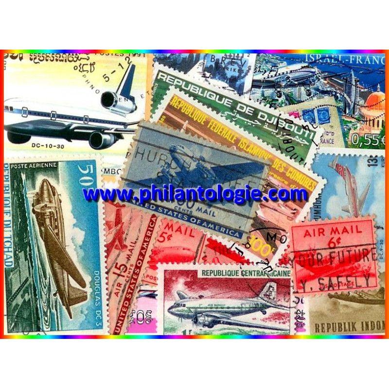 Avions DC 15 timbres thématiques tous différents.
