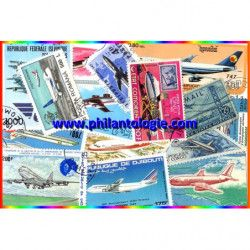 Avions Boeing 15 timbres...