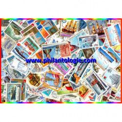 Bateaux timbres thématiques tous différents.