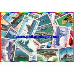Bateaux de guerre 25 timbres thématiques tous différents.