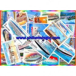 Paquebots 25 timbres thématiques tous différents.